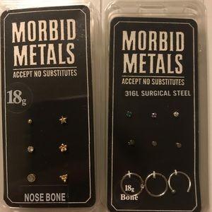 Bundle of 2 NIB Nose studs & Nose rings (18g)